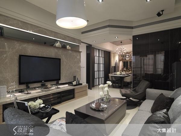 建材运用 大理石 客厅 餐厅 主墙设计 电视墙