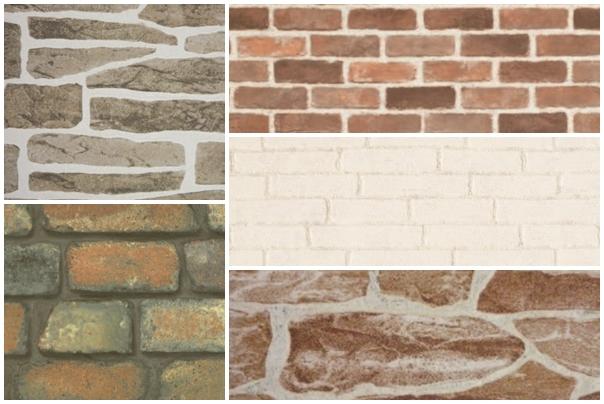 【替代建材】想要一面文化石牆?壁紙貼一貼就搞定!