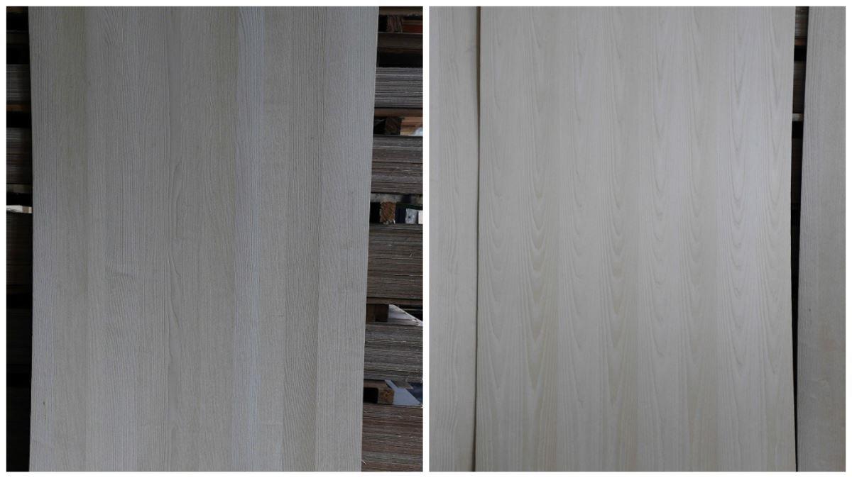 栓木顏色較淺,質理細膩,這次將用於玄關櫃體的貼面。