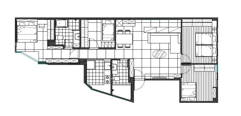 解法參考:【裝潢小跟班Ⅱ-2】革命性的格局發想 完整 1 家 6 口對於居宅的想望